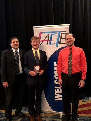Caleb Fahlgren accepting award