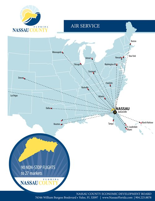Air service to Nassau county