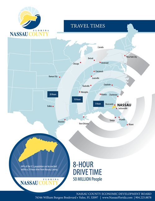 Travel Times map