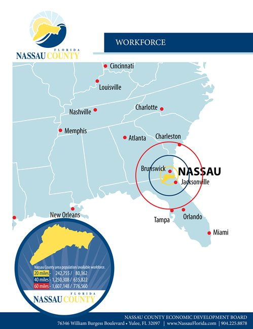 Nassau County workforce map