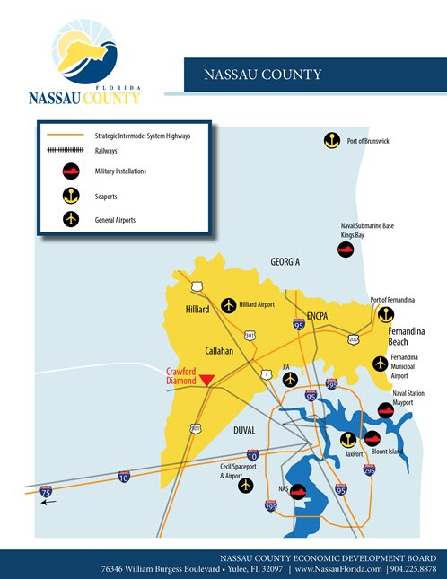 Nassau County regional map