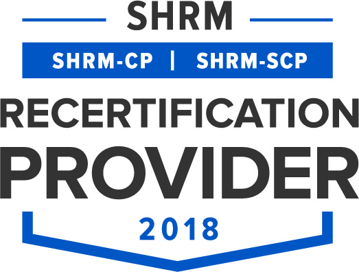 SHRM Recertification Provider 2018 badge
